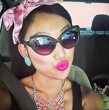 Vintage Style Pin Up Thick Cat Eye Black Brown Tortoise Hipster Sunglasses1434 S