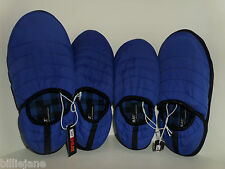 32 Degree Heat Weatherproof Puffer Royal Blue Slippers 7-8&13 Grip Soles Ret$45