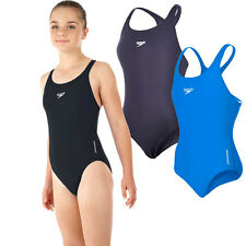 NEW Girls Speedo Endurance+ Medalist Swimsuit - Black Navy Blue Pink