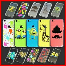 Assorted Pattern Cartoon Clear Soft Back Phone Case Cover for Apple iPhone 5C
