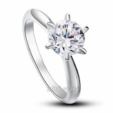 1.25 Carat Round Lab Created Diamond Engagement Sterling 925 Silver Ring FR8002
