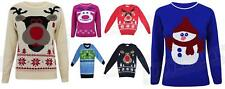 Kids Childrens Christmas Jumpers Rudolph Vintage Novelty Penguin Xmas Knitted