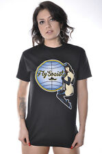 Fly Society 304 Sexy Pin Up Girl Stewardess Bettie Skater Streetwear Tee