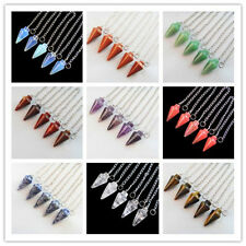 5pcs Mixed Gemstone pendulum Pendant Bead Mayan-157