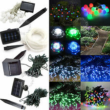 Various Solar Power String Fairy Light Xmas Party Decor 20/100/200 LED Rope/Ball