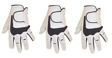 3  MENS 100% CABRETTA LEATHER GOLF GLOVES