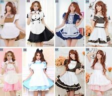 Quality Match Sets Maid Waitress Cosplay Fancy Dress, Uniform Outfit, Size S-M