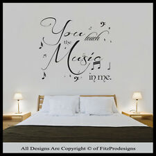 Wall Stickers Quotes, Wall Decals, Wall Art, Graphics YOU TOUCHED THE MUSIC