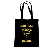 CANVAS, TOTE SHOPPING BAG, SUPER MUM, GREAT MOTHERS DAY / Birthday Gift