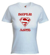 SUPER AUNT, LADIES T-SHIRT novelty, Great Birthday Gift For AUNTIE