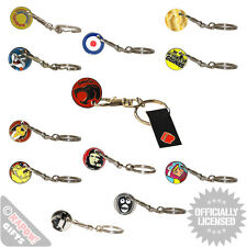 Trolley Keyrings Coin Supermarket Keychains Retro Design Tv Shows Movie Cool