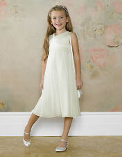 Girls Monsoon Dress White Ivory age 4-5 years Neveah Lace Party Bridesmaid new
