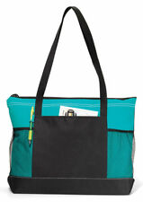 Gemline Mesh Water Bottle Pocket Select Zippered Main Compartment Tote Bag. 1100