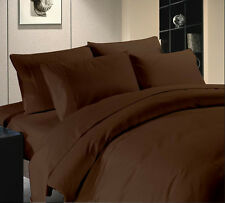 WHOLESALE PRICE HOTEL BRAND CHOCO BROWN COLOR 1000TC COTTON COMPLETE UK BEDDING