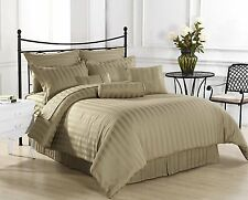 WHOLESALE PRICE HOTEL BRAND TAUPE COLOR 600TC COTTON COMPLETE UK BEDDING SET