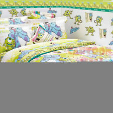 Monsters Inc.University Fitted Sheet Pillow Case Duvet Cover Bedding Sulley Mike