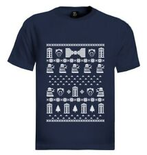 doctor ugly christmas sweater T-Shirt Who POLICE BOX 50th Anniversary Gift Idea