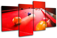 Pool Game Sports MULTI CANVAS WALL ART Picture Print VA