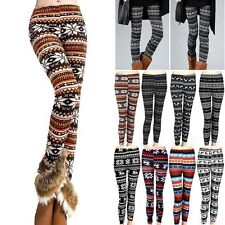 Womens Knitted Warm Tights Winter Leggings Soft Pants Cotton Blends