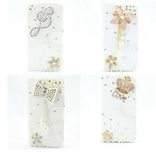 1x 3D bling fashion leather diamond wallet card flip case Cover for sony Xperia