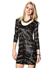 IRON FIST LADIES TIGER AND BUNNY SEQUIN DRESS  (B18B)