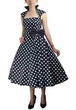BLACK AND WHITE POLKA DOT SWING Pinup Dress Retro 50's 40's 60s Vintage Style