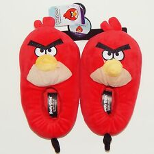 ANGRY BIRDS RED BIRD Plush Step-In Slippers NWT Size 11/12, 13/1, 2/3 or 4/5