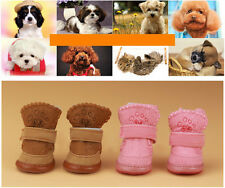 Fashion Warm Winter Cozy Pet Dog Boots Puppy Shoes 2 Color For Small Dog 5 Size