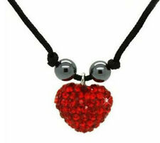 Ladies Womens Girls Heart Love Shamballa Necklace - Various Colors