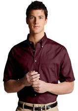 Edwards Garment Men's Easy Care Short Sleeve Pocket Poplin Dress Shirt. 1230