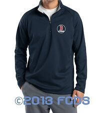 B Strong Boston Marathon Men's Comp 1/4 Zip Navy Pullover Tribute to Runners