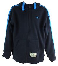 Gola Gsb6141 Boy's Uni Navy Blue Zip Up Front Drawstring Hooded Sweater New