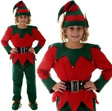 Christmas Fancy Dress Childrens Kids Elf Costume Santa Elf S, M & L 1st Class H
