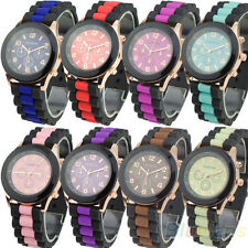 Womens Mens Geneva Silicone Band Jelly Gel Quartz Analog Sports Wrist Watch BB4U