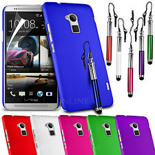 HARD BACK SKIN CASE COVER, LCD FILM & RETRACTABLE STYLUS PEN FOR HTC ONE MAX