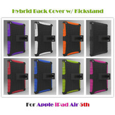 Hybrid Rubber TPU+Plastic Shockproof Hard Back Cover Stand for Apple iPad Air 1