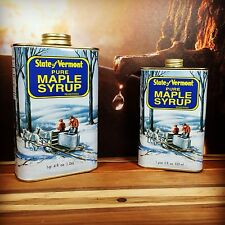 Pure Vermont Maple Syrup in Pint Tin Container Medium Amber, Dark Amber, Grade B