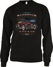 T-Bucket Roadster Ford Garage 1923 Classic Hot Rod Car Mens Long Sleeve Thermal