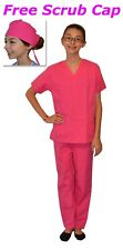 Kids Scrubs Set REAL Hot Pink Childrens Doctor and Nurse Scrub Sets