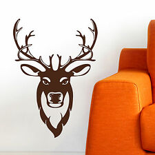 STAG, LARGE WALL STICKER, Silhouette, Stag Head, Decal, WallArt, SS1395