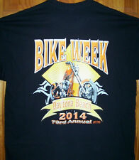 2014 Daytona Beach Bike Week Black T Shirt Sz Sm - 6XL Chopper In Diamond Sun