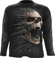 Spiral Direct CAST OUT Long Sleeve T-shirt/Biker/Tattoo/Skull/Reaper/Gothic/Top