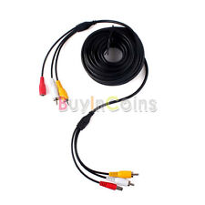 10 / 20 / 30m CCTV Camera DVR 2 RCA DC Power Audio Video Extension Cable Wire