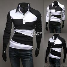 Men Casual Slim Fit Luxury Stylish Long sleeve Dress Shirt T-shirts Tee Tops EA7