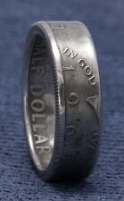 1965 JFK Kennedy 40% Silver US Half Dollar Double Side Coin Ring Unique Men Gift