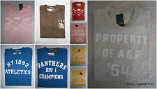 New With Tags Abercrombie & Fitch Graphic T Shirt Tee Mens Muscle Fit Size M&L