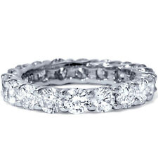 3.00CT REAL Round Diamond Eternity Band Womens Wedding Ring Anniversary 14K Gold