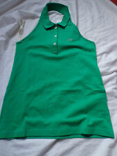 LACOSTE WOMENS GREEN HALTERNECK POLO SHIRT BNWT HIGH QUALITY
