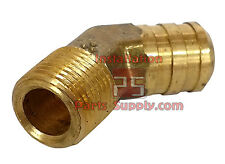 Hose Barb ID x Male NPT MIP Brass 45° Elbow Water Oil Air Gas Boat Fuel Fitting