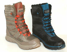 LADIES SKECHERS SYNERGY FRICTION WATERPROOF WINTER BOOTS Black or Taupe